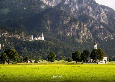 Schloss Neuschwanstein mit St. Coloman